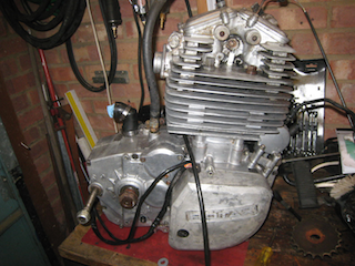 pic of stripped engine